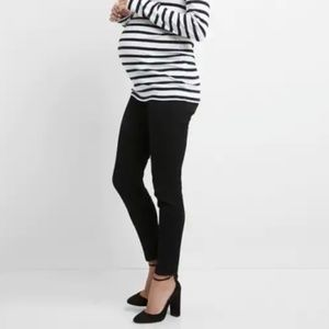 Gap Maternity Inset Panel True Skinny Black Jeans